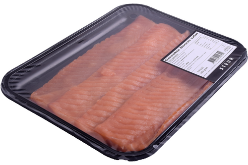 Zalm gerookt long sliced 500gr Steur