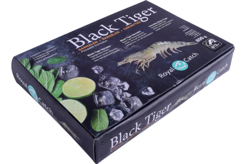 Gamba Black Tiger met kop 8/12 Royal Catch 1kg