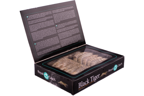 Gamba Black Tiger met kop 21/30 Royal Catch 1kg
