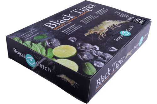 Gamba Black Tiger met kop 16/20 Royal Catch 1kg